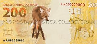 Banco Central vai lançar cédula de R$ 200 reais em agosto