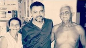 Cléber Verde e seus pais