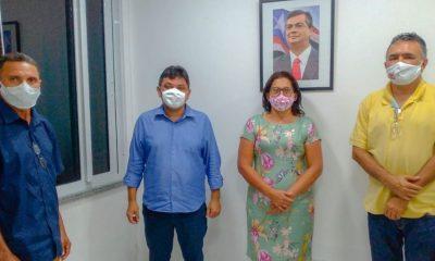 Márcio Jerry e Mávio Rocha, estiveram reunidos com Antônia do Wilson, em São Luís-MA