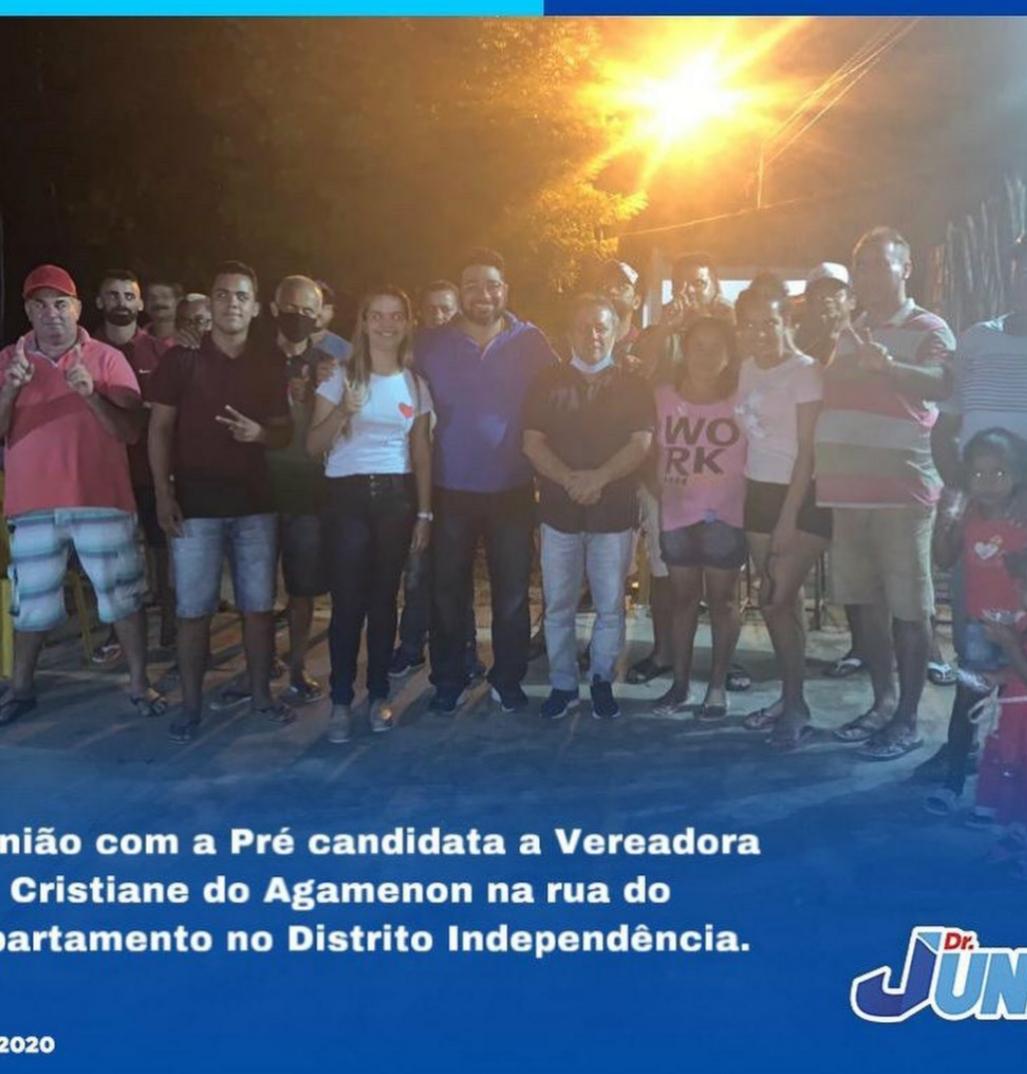 CRISTIANE DO AGAMENON REALIZA GRANDE REUNIÃO NO BAIRRO DE INDEPENDÊNCIA