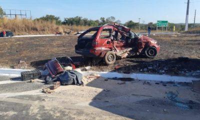 Dois idosos morrem após colisão transversal na BR 316, em Caxias
