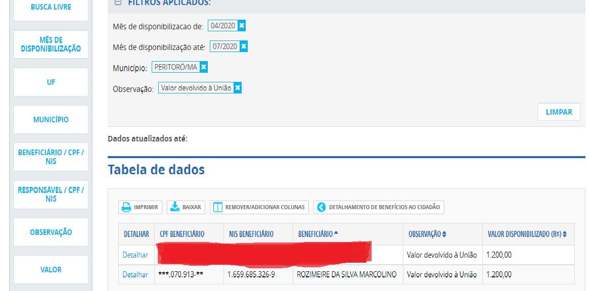 APÓS DE DENUNCIA FEITA PELO BLOG SECRETÁRIA DE ASSISTÊNCIA SOCIAL FAZ DEVOLUÇÃO DO AUXÍLIO EMERGENCIAL