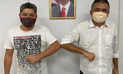 LAIONES NASCIMENTO, PRÉ-CANDIDATO A PREFEITO DE SÃO ROBERTO, REÚNE-SE COM MÁVIO ROCHA