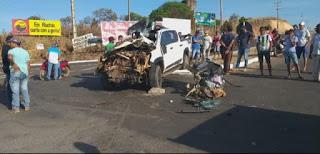 Quatro jovens morrem em colisão de Hilux com caminhão no Maranhão