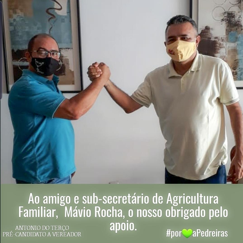 MÁVIO ROCHA DECLARA APOIO ANTÔNIO DO TERÇO