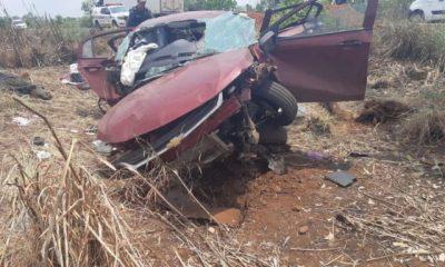 Condutor perde controle de veículo ao desviar de buracos na BR 226, sai de pista e colide em uma árvore