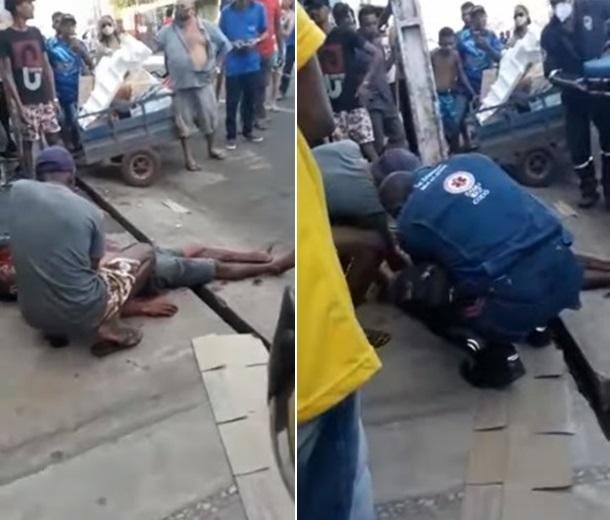 Ele foi levado para o hospital da cidade e seu estado de saúde é considerado estável